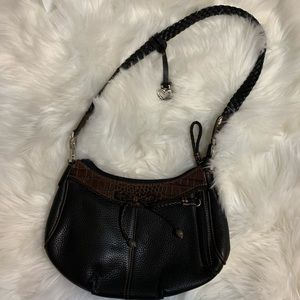 Brighton 2 tone leather shoulder bag